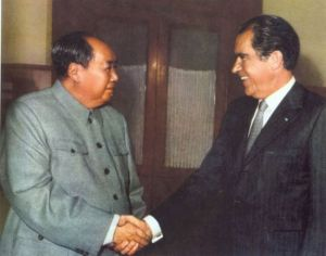 1972  Mao and Nixon at Beijing  Peking Beiping Yanjing