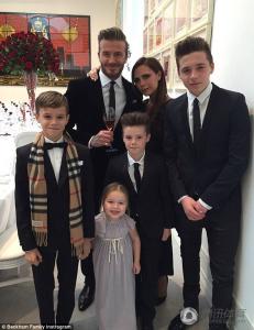 beckham family 2015